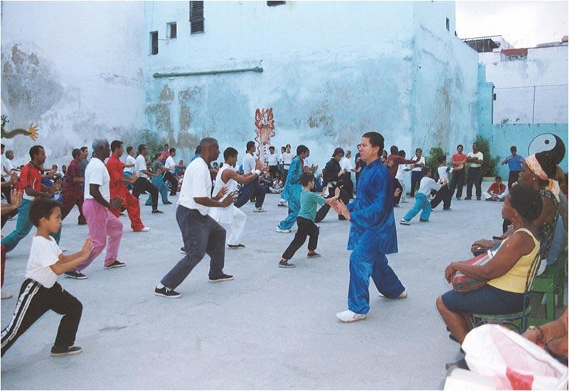 El área de entrenamiento en sus inicios 1997