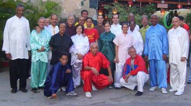 Grupo de profesores e instructores de Taijiquan 2008